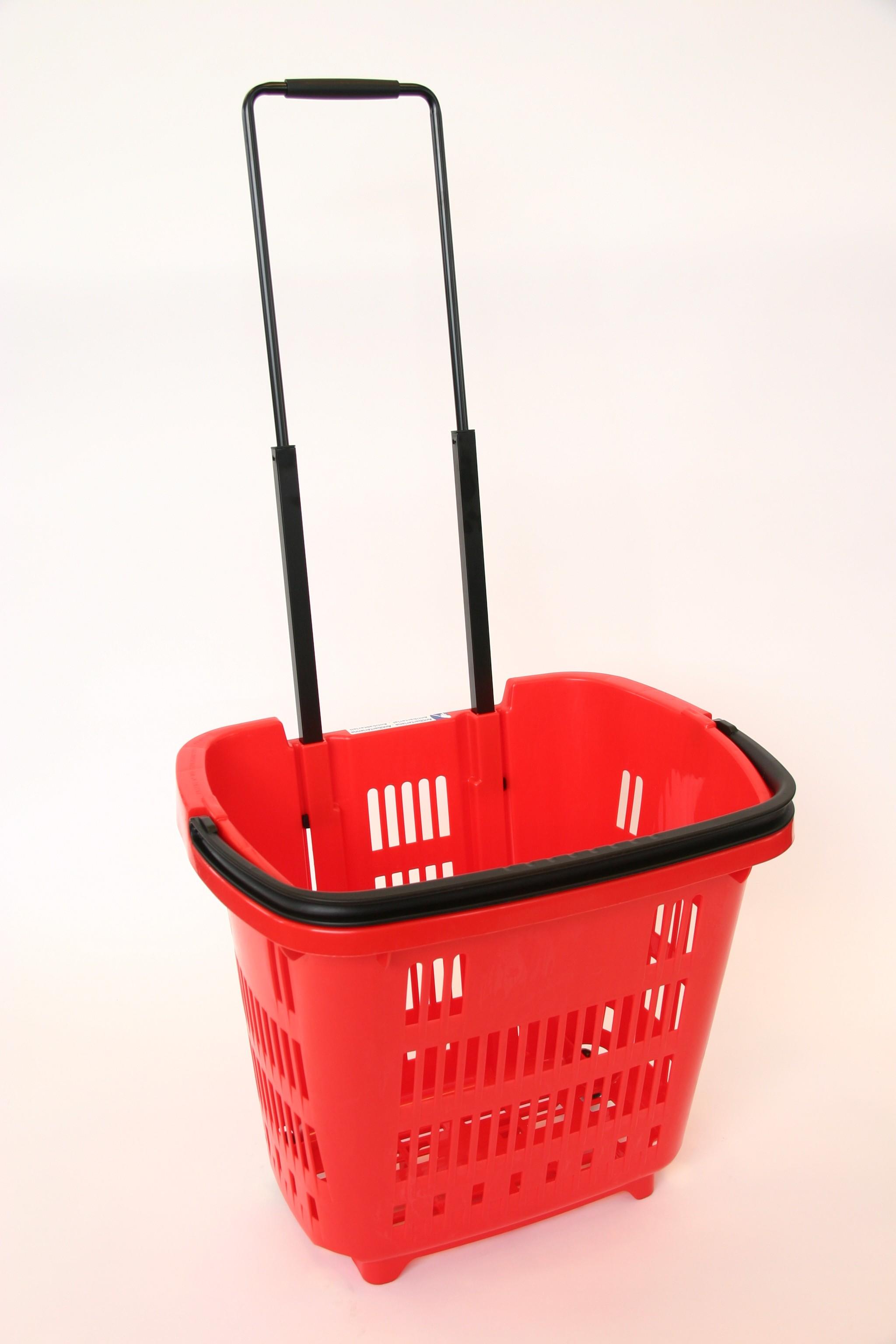 Shop & Roll 34 liter rood