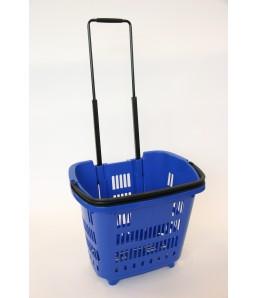 Shop & Roll 34 liter blauw