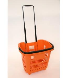 Shop & Roll 34 liter oranje