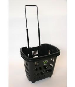 Shop & Roll 34 liter zwart gerecycled