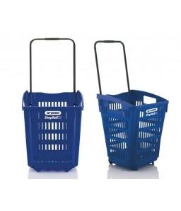 Shop & Roll 52 liter blauw