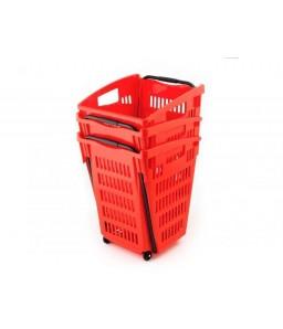 Shop & Roll 52 liter rood