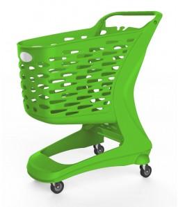 Winkelwagen kunststof ECO 80 groen